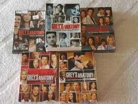 Grey's Anatomy temperadas 1 a 5.