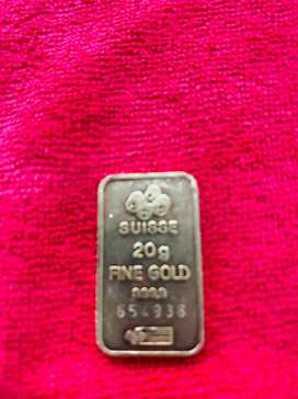Placa en oro suisse 24k puro 230 el gramo