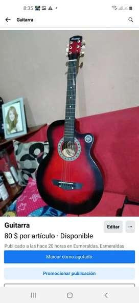 Guitarra acustica cuerdas metalicas
