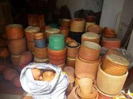 Si vende lote de materas diferentes tamaños, marranos alcancías de varios tamaños y platos todo de barro