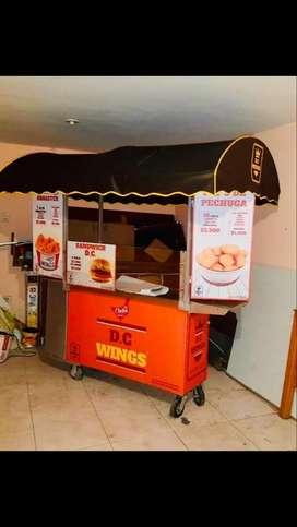 carrito ambulante Restaurante Móvil NUEVO