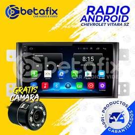 RADIO ANDROID PARA CHEVROLET GRAND VITARA SZ GPS BT USB WIFI BETAFIX