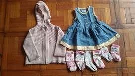 lote de ropa bebe de niña