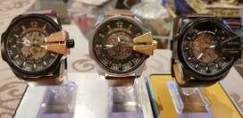 Reloj Diesel 10Bar Automático, only the Brave, Resistente al agua, Caja de Acero Inoxidable, correa de cuero, Edición LT