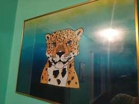 Cuadro Jaguar  con marco