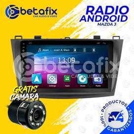 RADIO ANDROID PARA MAZDA 3 2010 UP GPS BT USB WIFI BETAFIX DESDE