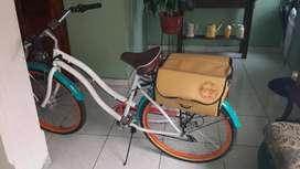 bicicleta  con motor electrico