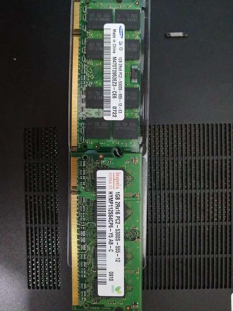 Memorias ram DDR2-PC2 para portátil. De 1 GB