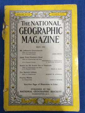 Sensacional Antiquísimo Tomo De La Revista National Geographic