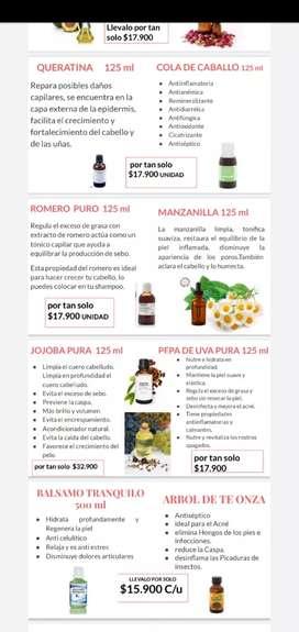 Aceites naturales, extractos puros