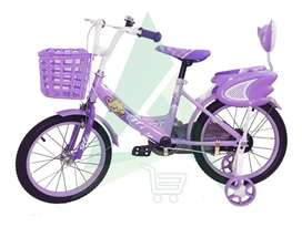 Bicicleta Aro 16 Niña Con Canastilla