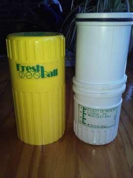 vaso contenedor pelotas tenis