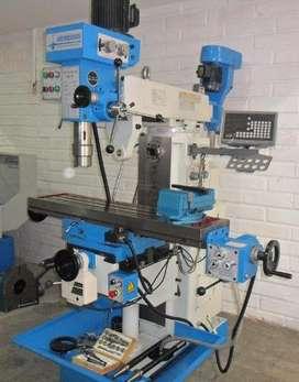 Fresadora Mixta, Recorridos (X, Y y Z) 650x180x350 mm, Mesa de 1200x280 mm, Husillos ISO40