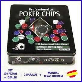 Set De Póker Texas Hold 100 Fichas