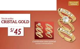 Trío de anillos - CRISTAL GOLD