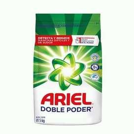JABON EN POLVO ARIEL DE 5 KILOS DOBLE PODER