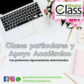 Clases particulares de matemáticas, física, química, inglés, cálculo, etc.