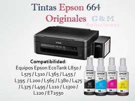 Tinta Epson Original 664 Bulkpack 70ml Pack de 4