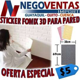 STICKER FOMIX 3D PARA PARED