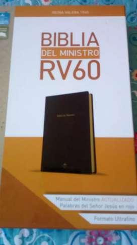 Biblia del ministro RVR 1960 encuadernación de alta calidad