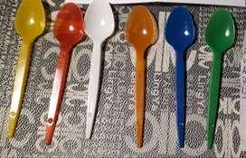 cucharitas plastico de colores 750 unidades