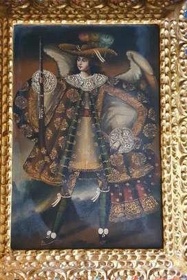 Vendo pintura al oleo cuzqueña de Angel Arcabucero