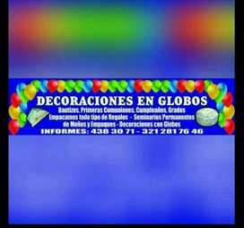 Seminarios de Decoracion con Globos
