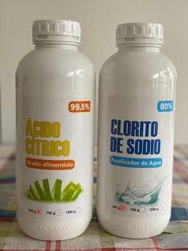 Clorito de Sodio 80% + Ácido Cítrico 99.5% 350 g