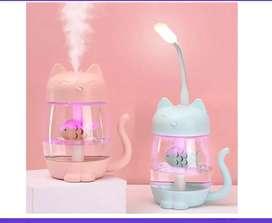 Humificador de gato con luz led