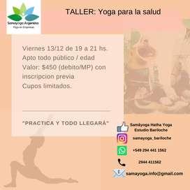 Taller de Yoga para la salud.