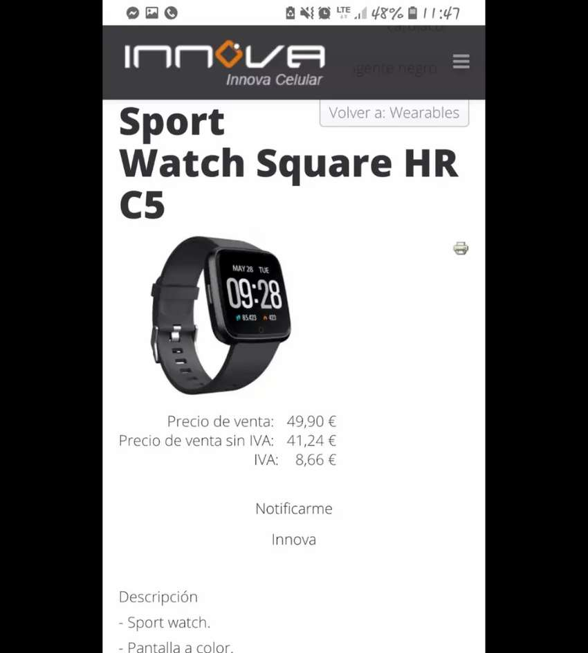 Barato Smart watch Innova 0