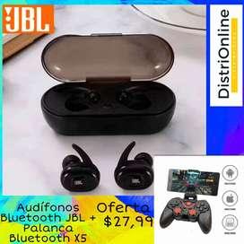 SUPER COMBO . AUDIFONOS BLUETOOTH JBL + GAME PAD BLUETOOTH X5