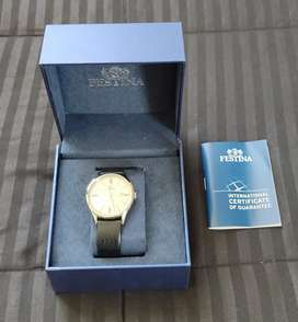 Reloj Festina formal, pulso cuero, original.
