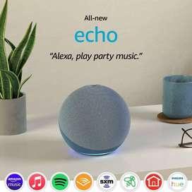 Amazon Echo de cuarta generación, Sonido De Alta Calidad, Smart Home Hub + Foco
