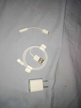 Vendo cable, cubo y adaptador Apple originales