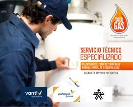 Corrección, Reparación y Mantenimientos preventivos: Estufa, Calentador, Horno, Parrilla, Chimenea Gas natural Vanti
