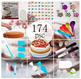 174 piezas de decoración de pasteles kit de decoración de pasteles conjunto de herramientas para hornear pastel
