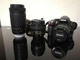 Combo Nikon D5300 con 3 Lentes