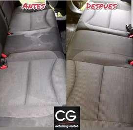 Limpieza detallada de interior completo de vehículos