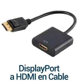 DISPLAY PORT A HDMI EN CABLE