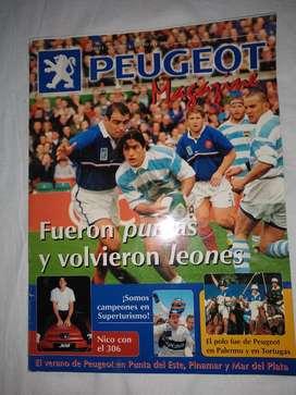 Revista Peugeot enero 2000  los  Pumas excelente estado