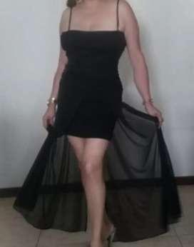 Vestido de fiesta, color negro