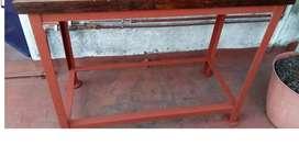 Banco/mesa/mesón De Trabajo Antiguo-hierro Y Madera Lapacho