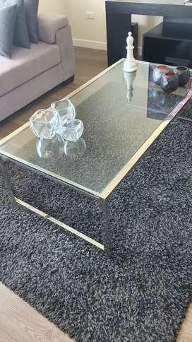Mesa de sala cromada