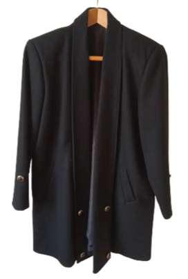 Saco Blazer de Paño Negro Talla 48 L  Nuevo Abrigador amplio y cómodo