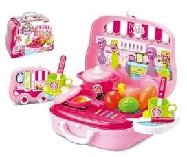 Cocina Infantil Maleta Niñas Juguete