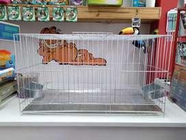 Jaula Para Conejos 60x40x30 Con Bebedero/Comedero