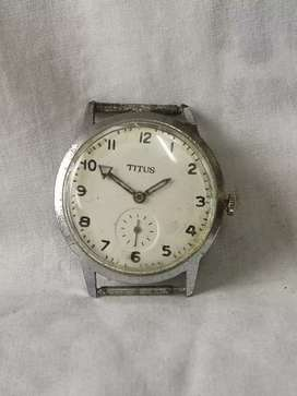 Antiguo reloj titus de 1930/50 tipo militar