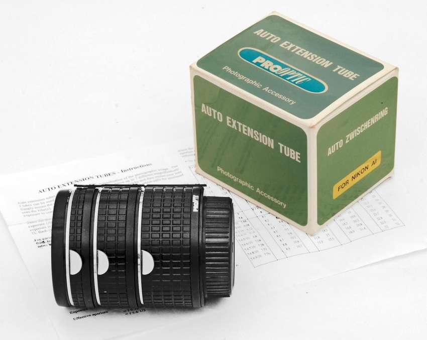 TUBOS DE EXTENSION PRO OPTIC N-AI/AF DE 13-21-31 mm PARA CAMARAS NIKON