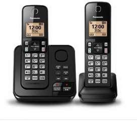 telefono panasonic doble base con contestador altavoces ,identificador,localizador
